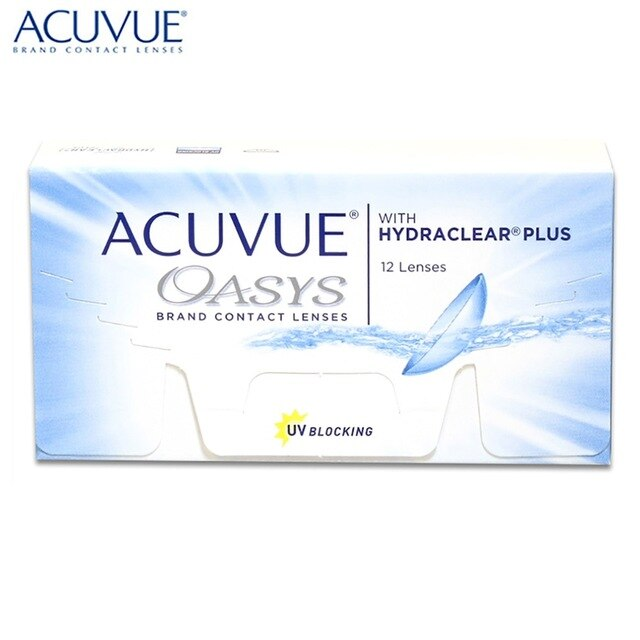 ACUVUE OASIS WITH HYDRACLEAR PLUS 12 ШТ.